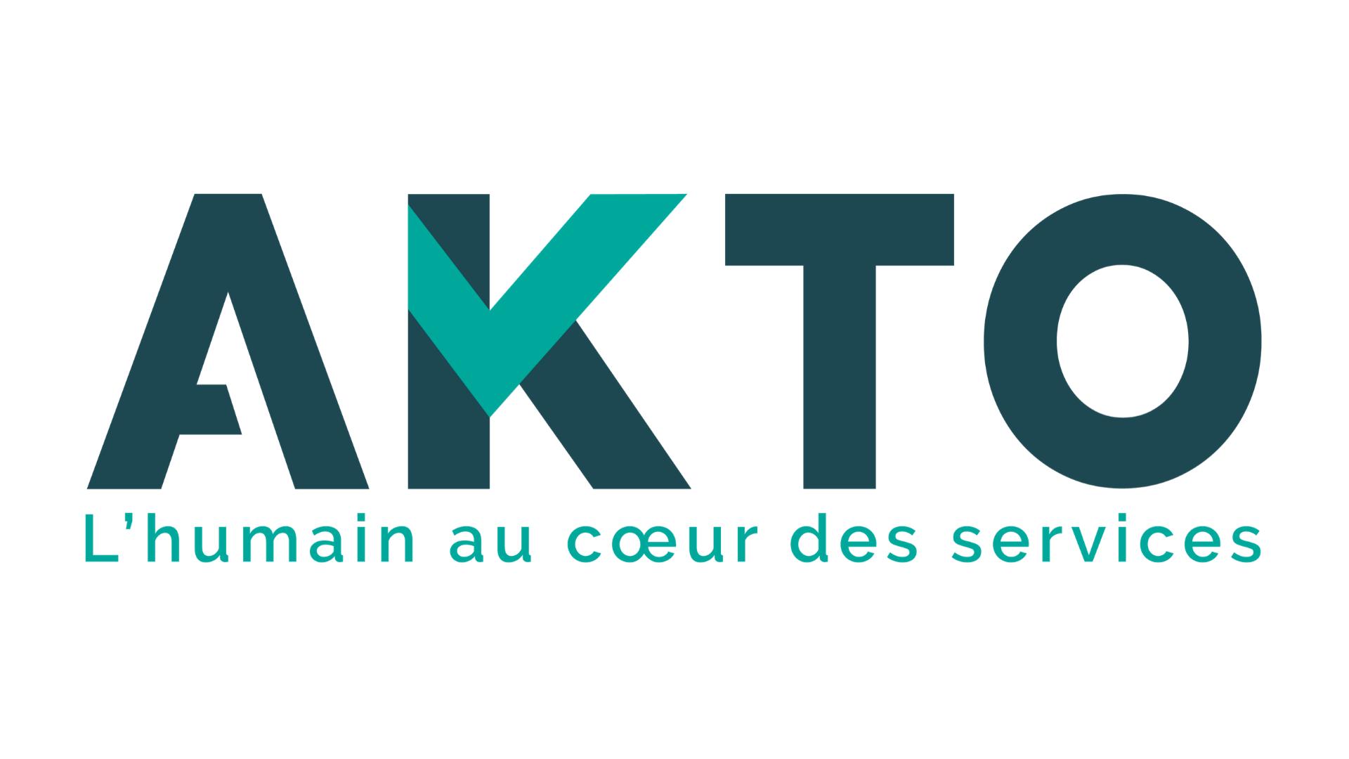 Logo Akto, l'humain au coeur des services