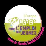 Initiative emploi jeunes IEJ Logo L'europe s'engage